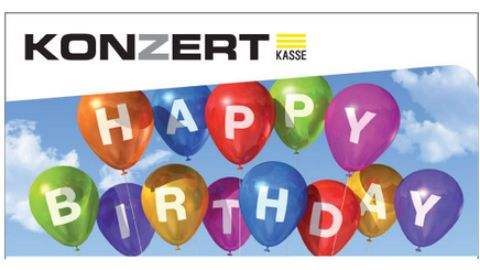Gutschein, Motiv: Happy Birthday