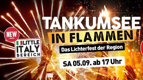 Tankumsee in Flammen
